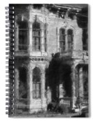 Gothic House Black And White Spiral Notebook