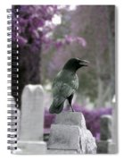 Gothic Purple Spiral Notebook