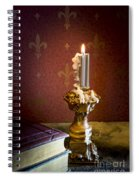 Gothic Scene With Candle And Gilt Edged Books Spiral Notebook