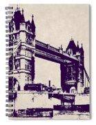 Gothic Victorian Tower Bridge - London Spiral Notebook