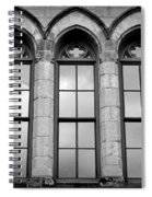Gothic Windows - Black And White Spiral Notebook