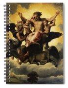 Gottvater In Wolken Spiral Notebook