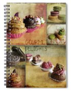 Gourmet Delights - Collage Spiral Notebook
