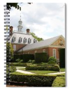 Governers Palace Garden Colonial Williamsburg Va Spiral Notebook