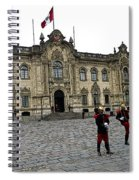 Government Palace Guards In Lima Spiral Notebook