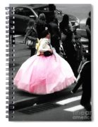 Gown Of Pink Spiral Notebook
