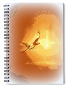 Mississippi Kite - Beauty Into The Light Spiral Notebook
