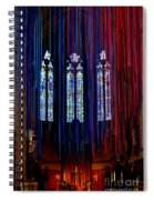 Grace Cathedral With Ribbons Spiral Notebook