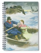 Grace Darling And Her Father Rescuing Spiral Notebook
