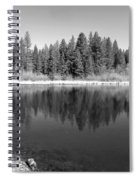 Grace Lake Reflections In Black And White Spiral Notebook