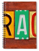 Grace License Plate Name Sign Fun Kid Room Decor. Spiral Notebook