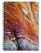 Graceful Grooves Rock In Petra-jordan Spiral Notebook