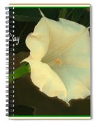 Graceful Moonflower - Happy Mother's Day Spiral Notebook