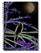 Grackle In The Willow Tree Spiral Notebook