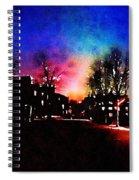 Graduate Housing Princeton University Nightscape Spiral Notebook