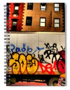 Graffit With Taxi Spiral Notebook