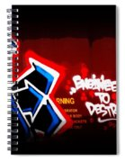 Graffiti - Box Car Art  7097-008 Spiral Notebook