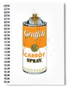 Graffiti Carrot Spray Can Spiral Notebook