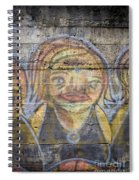 Graffiti Covered Cement Wall Spiral Notebook