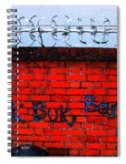 Graffiti In The Sky With Diamonds Spiral Notebook