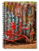 Graffiti On The Wreckage Spiral Notebook