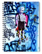 Graffiti Rendition Of Diane Arbus's Photo - Child With Toy Hand Grenade In Central Park Spiral Notebook