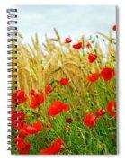 Grain And Poppy Field Spiral Notebook