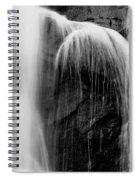 Grampians Waterfall Bw Spiral Notebook