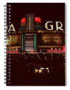Night Lights Granada Theater Spiral Notebook