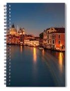Grand Canal At Dusk Spiral Notebook