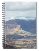 Grand Canyon Shadows And Snow Spiral Notebook