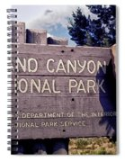 Grand Canyon Signage Spiral Notebook