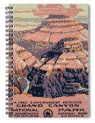 Grand Canyon Travel Poster 1938 Spiral Notebook