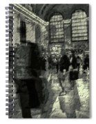 Grand Central Abstract In Black And White Spiral Notebook