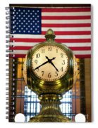 Grand Central Clock Spiral Notebook