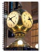 Grand Central Station Clock Spiral Notebook