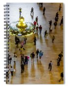 Grand Central Terminal Clock Birds Eye View  Spiral Notebook