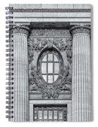 Grand Central Terminal Facade Bw Spiral Notebook