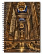 Grand Central Terminal Station Chandeliers Spiral Notebook