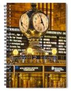 Grand Cerntral Terminal Clock No. 1 Spiral Notebook