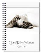 Grand Kitty Cuteness Miss Tilly Poster Spiral Notebook