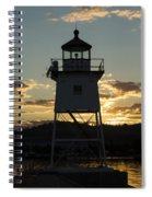 Grand Marais Mn Lighthouse 6 Spiral Notebook