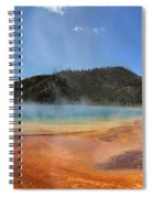 Grand Prismatic Hot Spring Pool At Yellowstone National Park Spiral Notebook