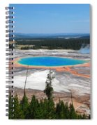 Grand Prismatic Spring From Above Spiral Notebook