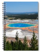 Grand Prismatic Spring From Hillside Spiral Notebook