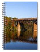 Grand River Autumn Freight Train Spiral Notebook