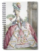 Grand Robe A La Francais, Engraved Spiral Notebook