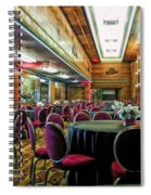 Grand Salon 05 Queen Mary Ocean Liner Extreme Spiral Notebook