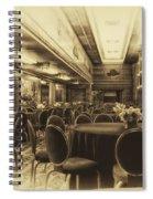 Grand Salon 05 Queen Mary Ocean Liner Heirloom Spiral Notebook