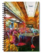 Grand Salon 05 Queen Mary Ocean Liner Photo Art 02 Spiral Notebook